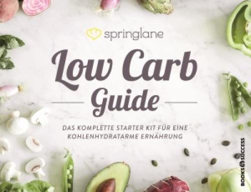 """Ab 23. Mai im Handel: """"DER LOW CARB GUIDE """"von Springlane"""