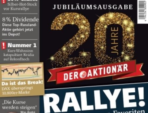 """Börsenmedien AG feiert 20 Jahre """"DER AKTIONÄR"""""""