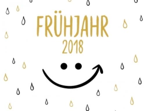 Die neue Vorschau für das erste Halbjahr 2018 ist da!